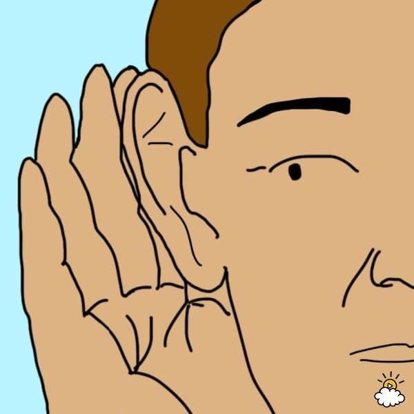 ilustración de persona escuchando algo
