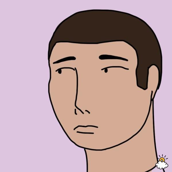 ilustración de persona con cara de susto