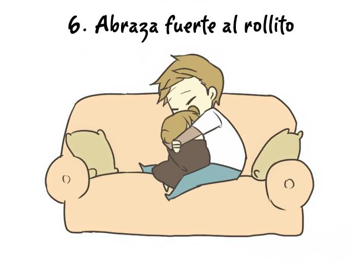 ilustración que muestra a una persona abrazando a otra cuando se siente triste