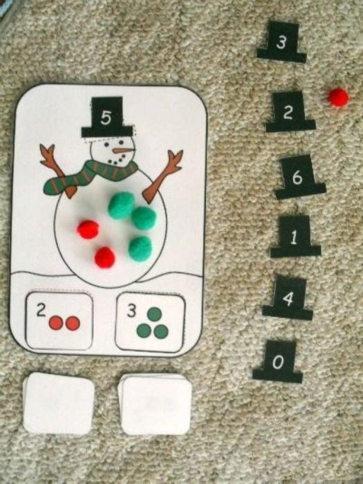 truco del mono de nieve para contar
