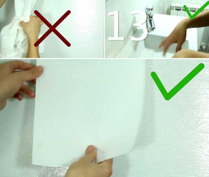 tip para secar fácilmente las manos sin usar tanto papel