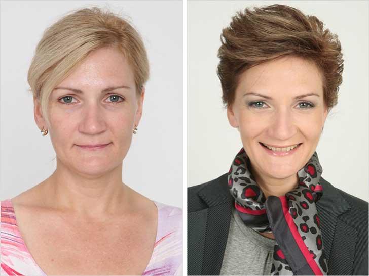 antes y despuès cambio de imagen estilista ruso