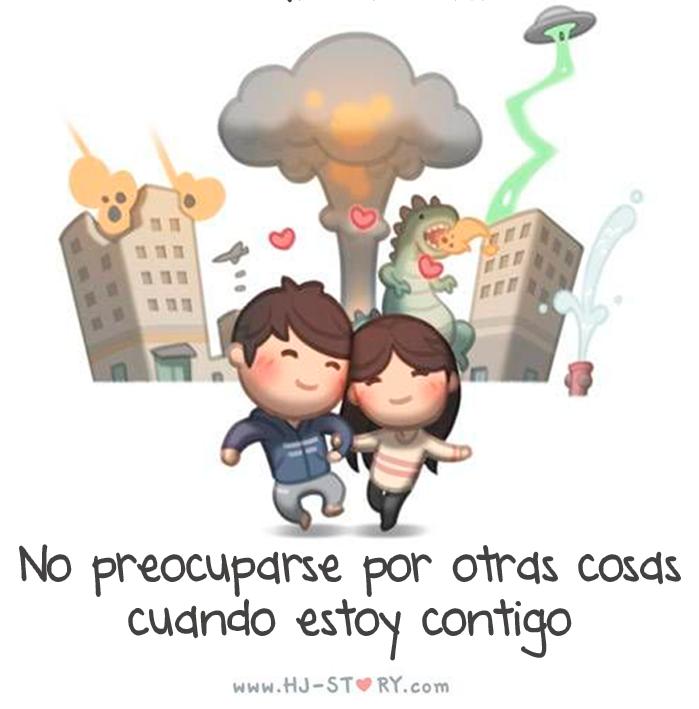 ilustración amor es no preocuparse por otras cosas