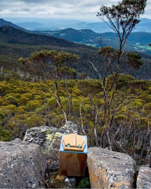 baño con un paisaje a Tasmania