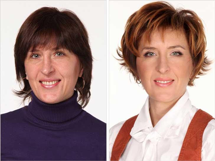 antes y despuès estilista ruso