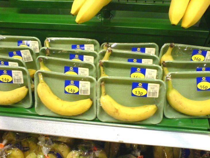 plátano en cajita