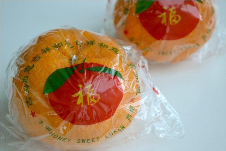 mandarinas empaquetadas