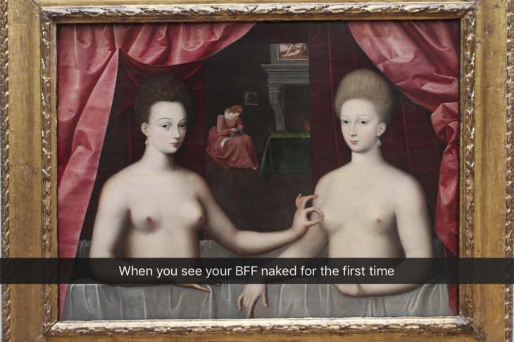Cuando vez por primera vez a tu mejor amiga desnuda