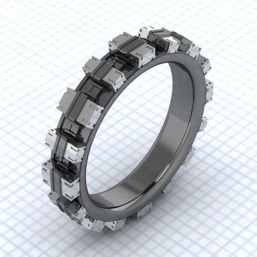 anillo de compromiso con el diseño de la saga de películas Star Wars