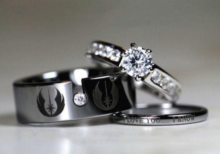 20 anillos de compromiso con dise241os de star wars