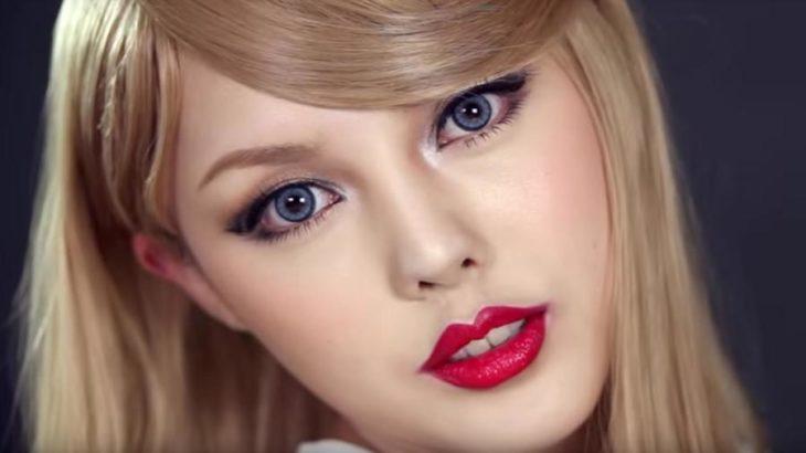 Artista de maquillaje coreana se transformó en la cantante estadounidense Taylor Swift