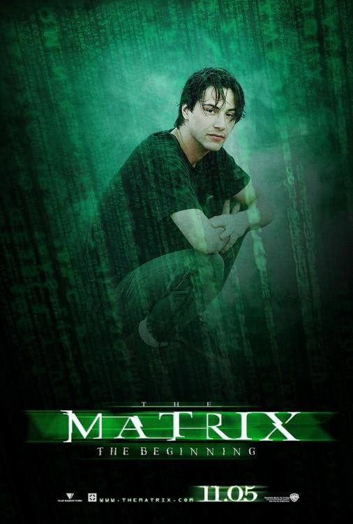 keanu reeves en la portada de matrix