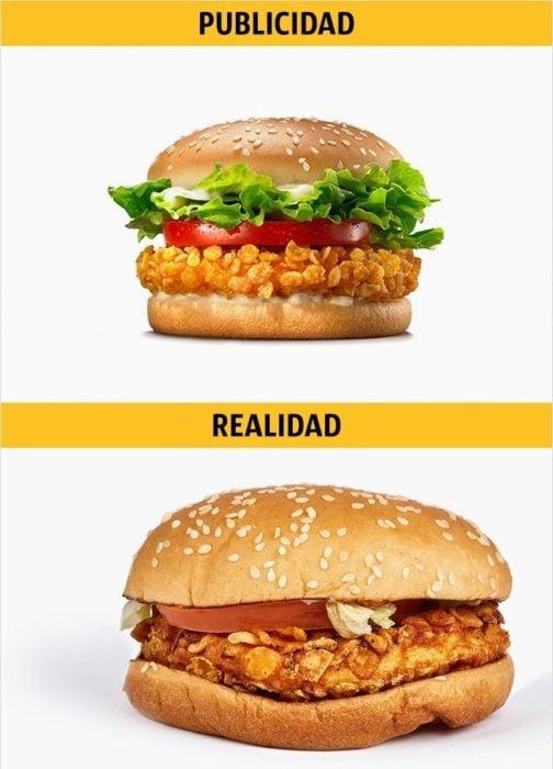PUBLICIDAD/REALIDAD, Krispy Chicken de Burger King