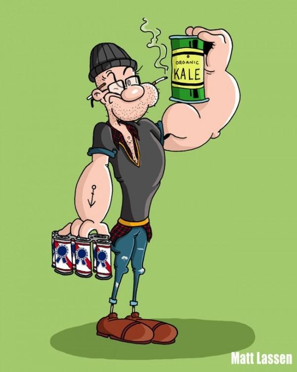 Popeye el marino Hipster