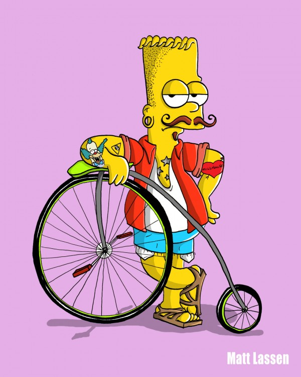 bart simpson hipster