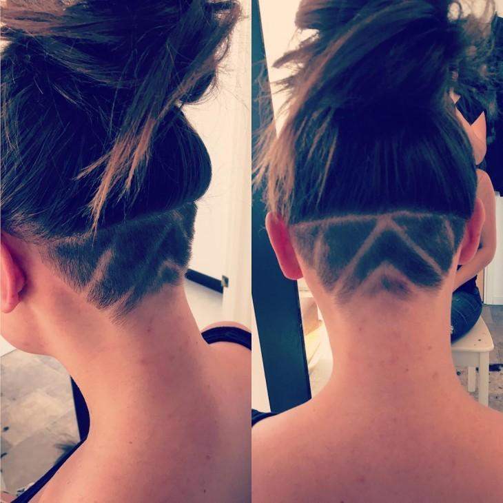 tatuaje rayas en el cabello