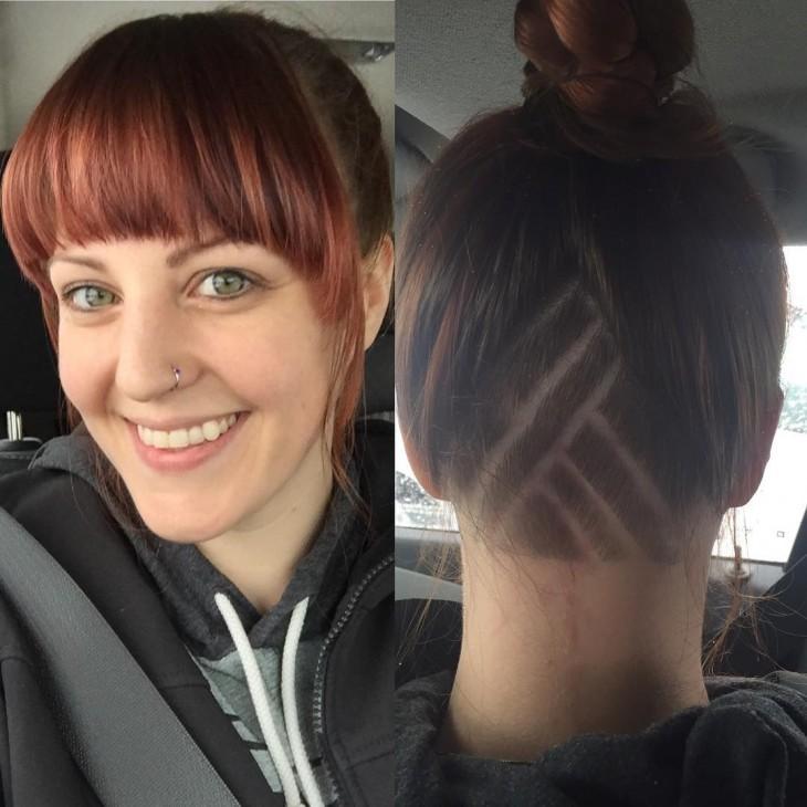 cabello corte lineas
