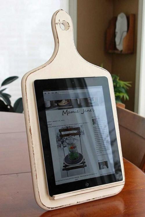 tabla para picar vieja como una porta ipad