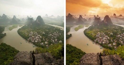 Fotógrafo muestra que tanto fhotoshop tienen las imágenes de Internet