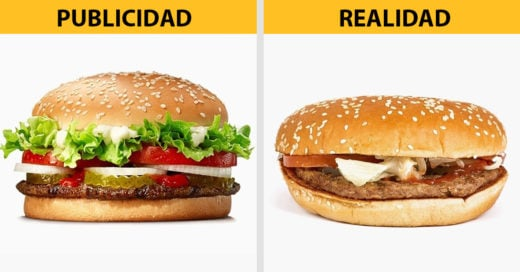 Comida en la publicidad y en la realidad