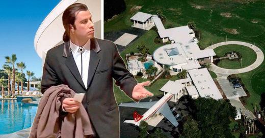 ridículamente lujosa casa de John Travolta
