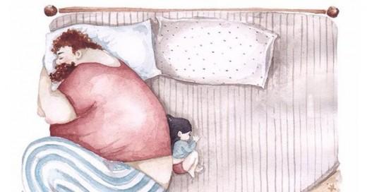 ilustraciones que muestran el amor entre papá e hija