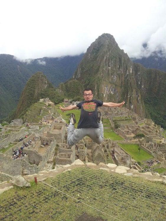 Timotei Rad en Machu Pichu