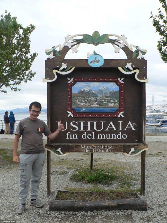 """timotei Rad en """"fin del mundo"""" en Ushuaia"""