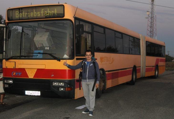 Timotei Rad viajó en este largo autobús de Viena a Arad