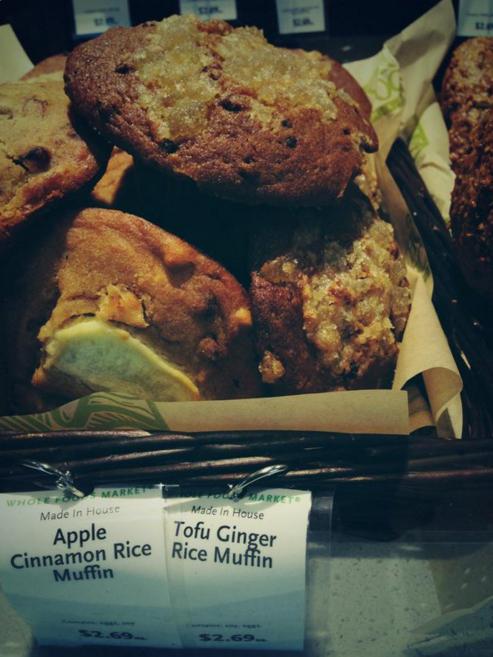 canasta de muffins de manzana