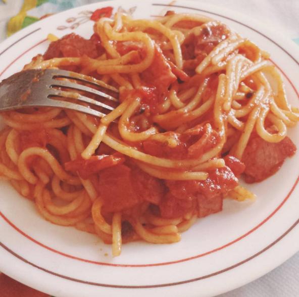 plato de spaguetti