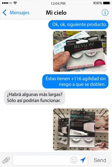 capturas de pantalla de una conversación de un chico con su novia