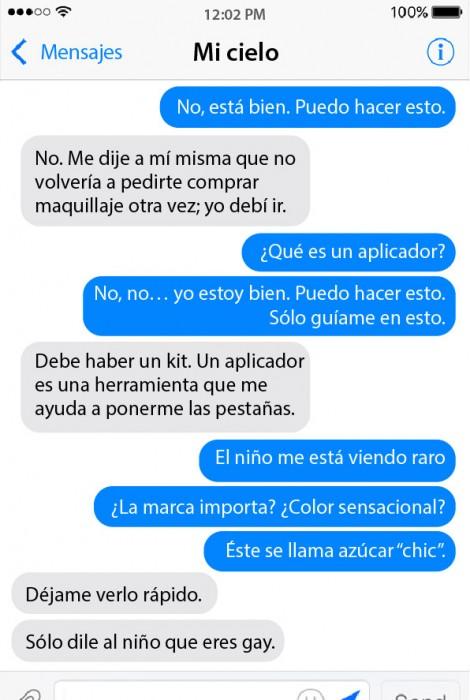 captura de pantalla de una conversación por mensajes