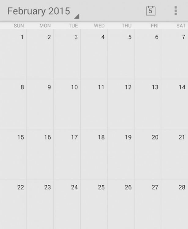 calendario que muestra el perfecto acomodo del mes de febrero
