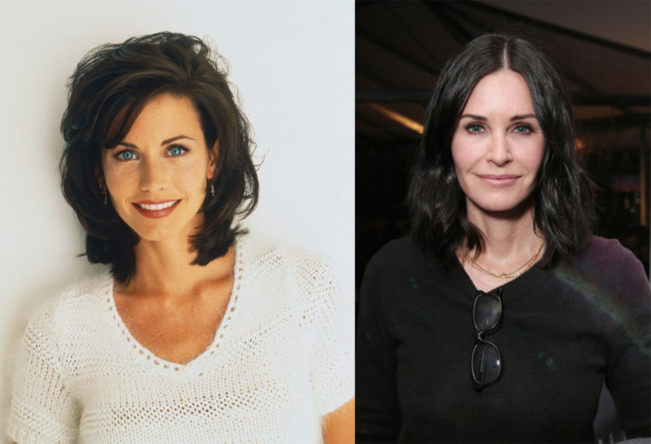 Courtney Cox en 1994 y en 2016
