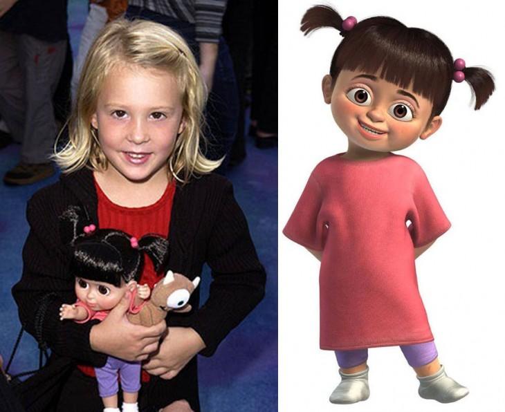 Mary Gibbs niña que hizo la vos de Boo la protagonista de Monsters Inc