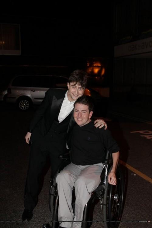 Daniel Radcliffe y David Holmes, el chico que hacia su doble en las filmaciones de Harry Potter