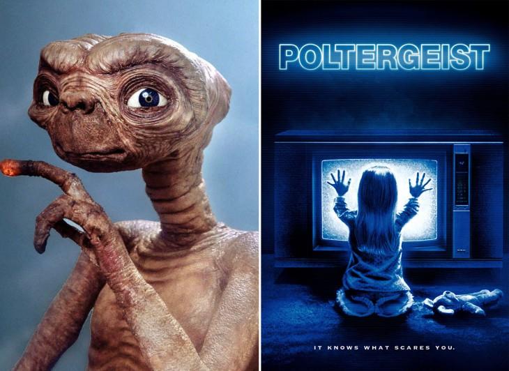 Películas Et y Poltergeist