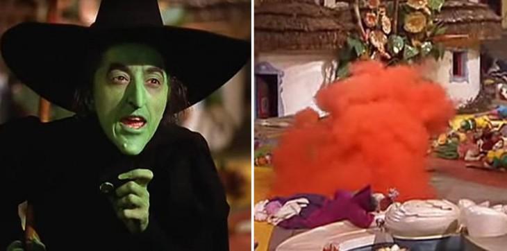 escena de la bruja malvada en el mago de oz