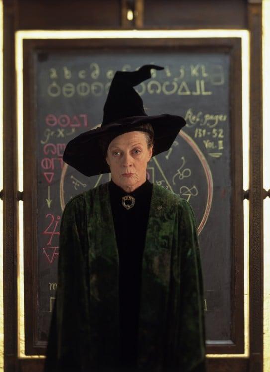 imagen de la profesora McGonagall en la saga de Harry Potter