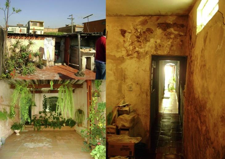 casa de una mujer empleada doméstica en Sao Paulo, Brasil antes de ser remodelada