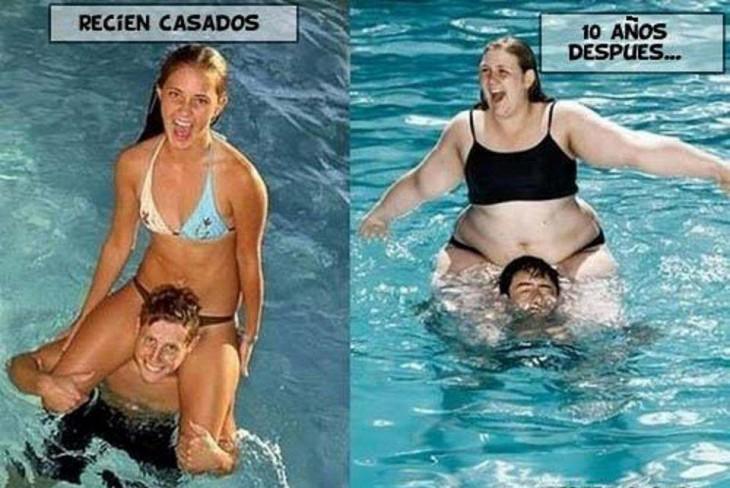 antes y después de casarse