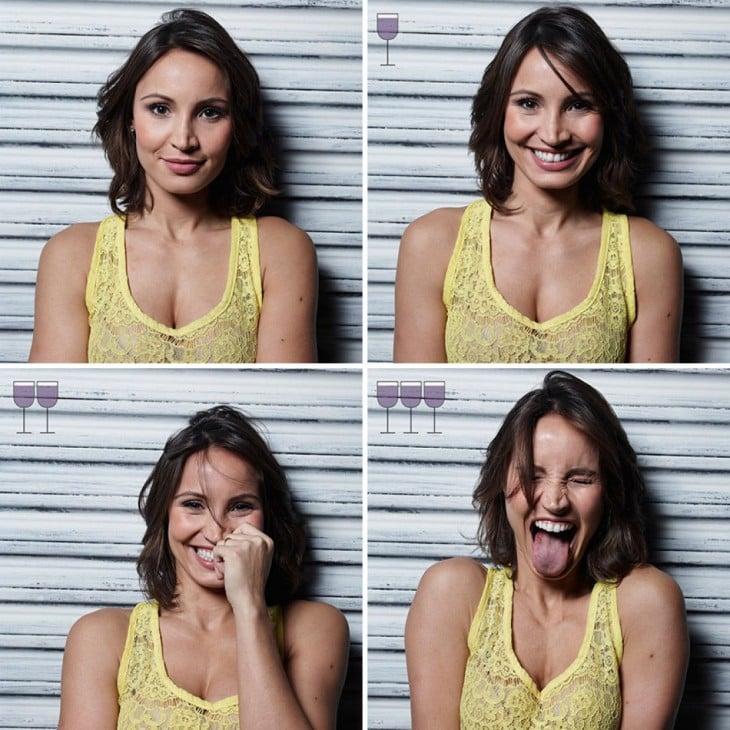 fotógrafo brasileño capta las expresiones de unas chicas después de 3 copas de vino