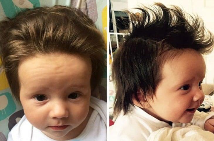 imágenes de un bebé con mucho cabello