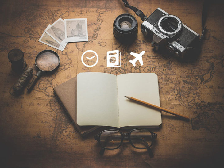 Playera indicando cómo viajar