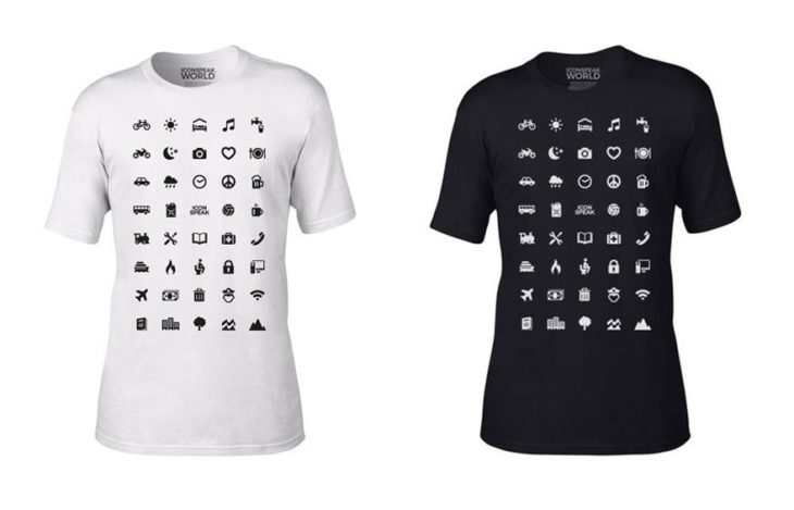 Playera en blanco y negro, los colores básicos