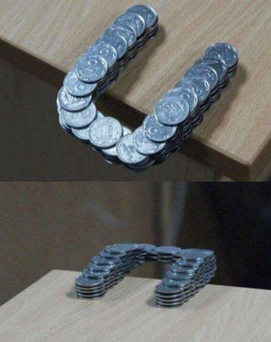 herradura de monedas