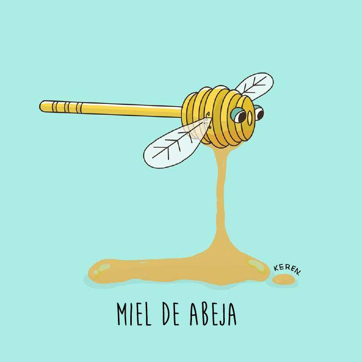 ilustraciones que representa la miel de abeja