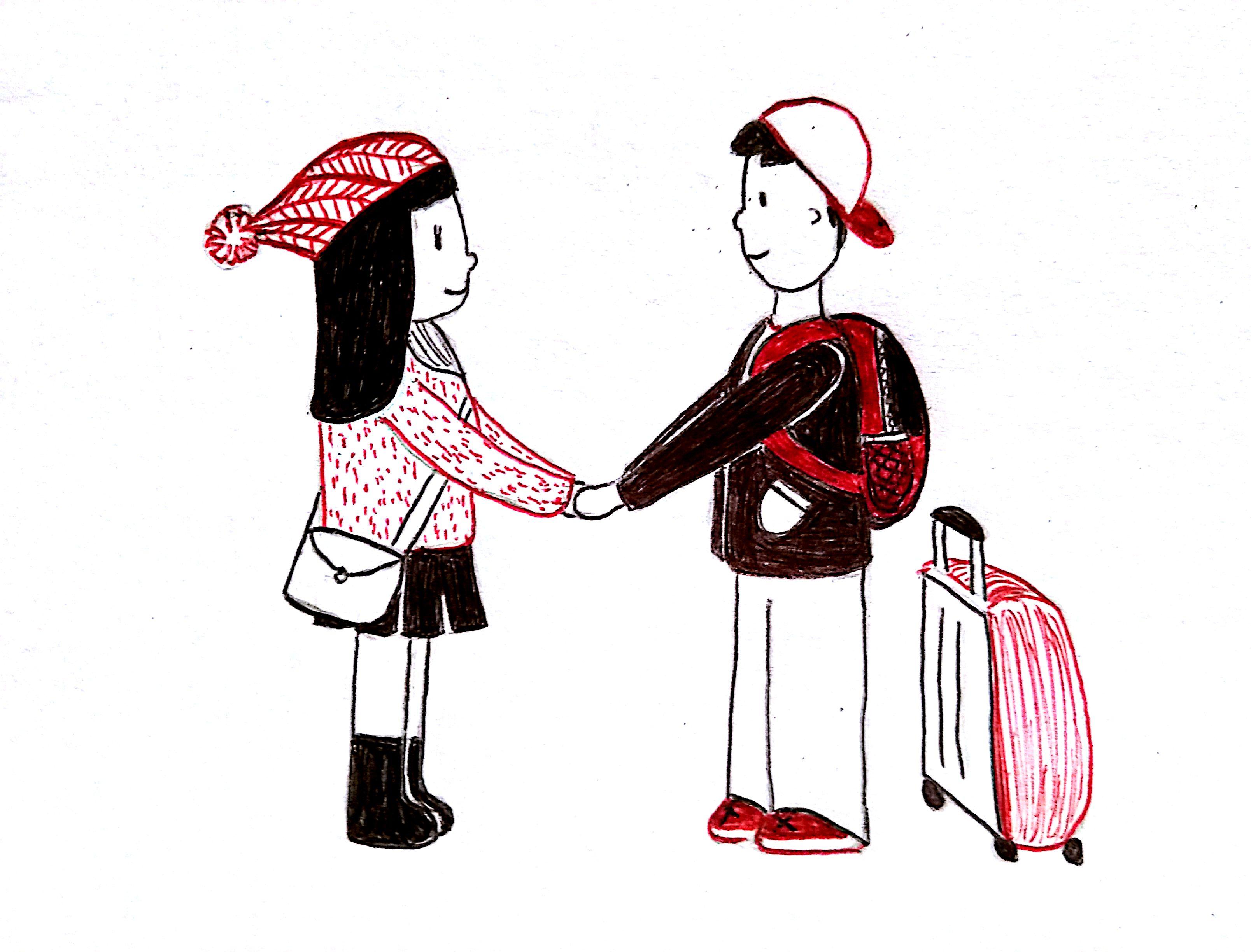 Ilustraciones de cómo es estar en una relación a distancia