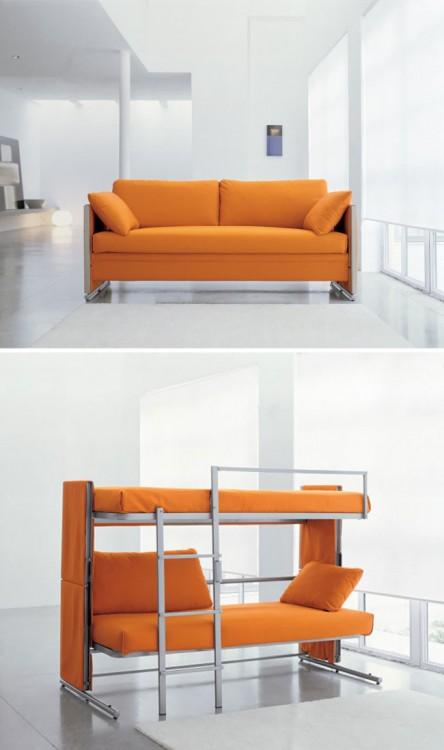diseño de un sofá cama litera